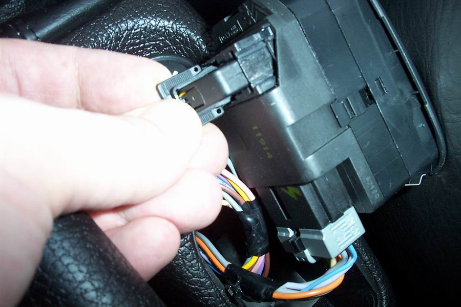 remove the connector by lifting up the secure-clip